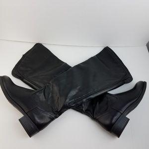 White Mountain Black Tall Riding Boots size 8 EUC